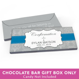 Deluxe Personalized Confirmation Ribbon Candy Bar Favor Box