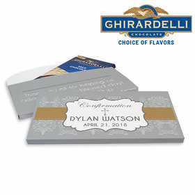 Deluxe Personalized Confirmation Girl Ribbon Ghirardelli Chocolate Bar in Gift Box