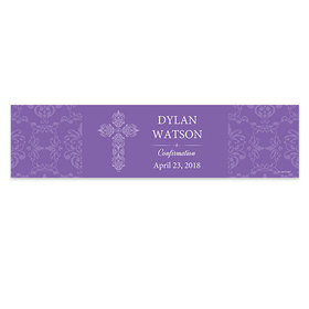 Personalized Confirmation Elegant Cross 5 Ft. Banner