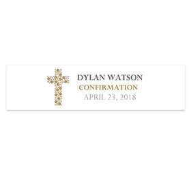 Personalized Confirmation Round Stone Cross 5 Ft. Banner