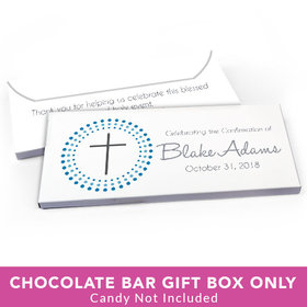 Deluxe Personalized Confirmation Radiating Cross Candy Bar Favor Box