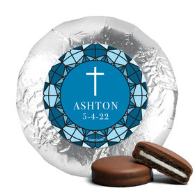 Personalized Confirmation Stain Glass Chocolate Covered Foil Oreos