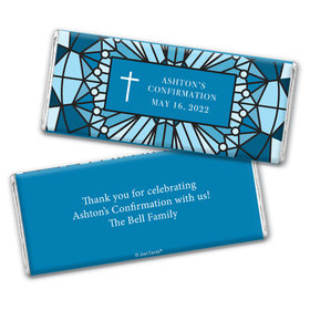 Personalized Confirmation Stained Glass Chocolate Bar & Wrapper