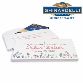 Deluxe Personalized Confirmation Garden of Blessings Ghirardelli Chocolate Bar in Gift Box