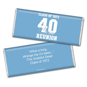 Class Reunion Personalized Chocolate Bar Milestone