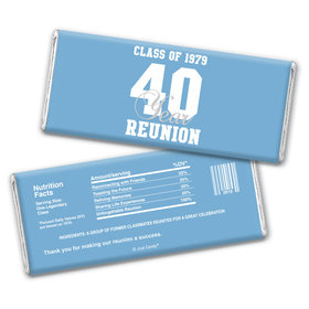 Class Reunion Personalized Chocolate Bar Wrappers Milestone