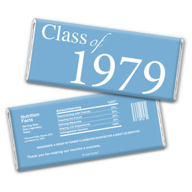 Class Reunion Personalized Chocolate Bar Wrappers Graduation Class Of