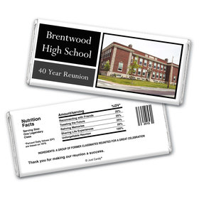 School Class Reunion Personalized Chocolate Bar Wrappers Colorblock Class Reunion Photo
