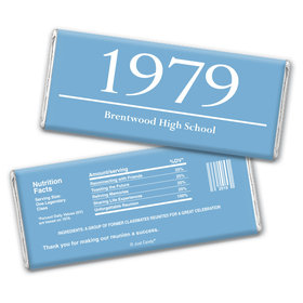 Class Reunion Personalized Chocolate Bar Wrappers Graduation Year