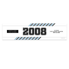 Personalized School Spirit Stripes Class Reunion Banner