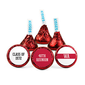 Personalized Class Reunion Stripe Hershey's Kisses (50 pack)