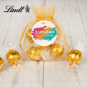 Personalized Custom Artwork Lindt Truffle Organza Bag