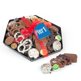 Personalized Christmas Add Your Logo Gourmet Belgian Chocolate Gift Tray (2lbs)