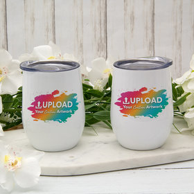 Personalized Wine Tumbler (12oz) - Add Your Artwork