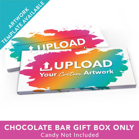 Deluxe Personalized Add Your Artwork Candy Bar Favor Box