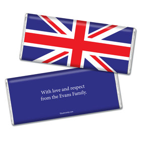 Olympic Party Favor Personalized Chocolate Bar British Flag from England