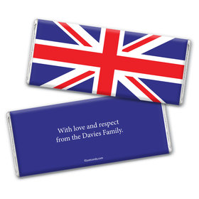 Olympic Party Favor Personalized Chocolate Bar Wrappers British Flag from England