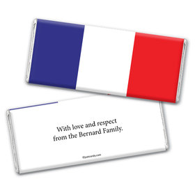 Olympic Party Favor Personalized Chocolate Bar Wrappers French Flag from France