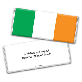 Olympic Party Favor Personalized Chocolate Bar Wrappers Irish Flag from Ireland