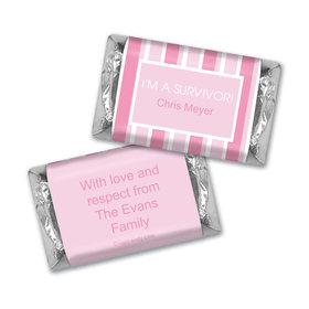 Breast Cancer Awareness Personalized Hershey's Miniatures Pinstripe Breast Cancer Survivor