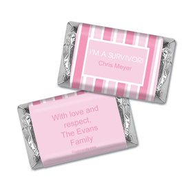 Breast Cancer Awareness Personalized Hershey's Miniatures Wrappers Pinstripe Breast Cancer Survivor