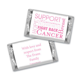 Breast Cancer Awareness Personalized Hershey's Miniatures Breast Cancer Words for a Cure