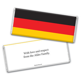 Olympic Party Favor Personalized Chocolate Bar Wrappers German Flag from Germany