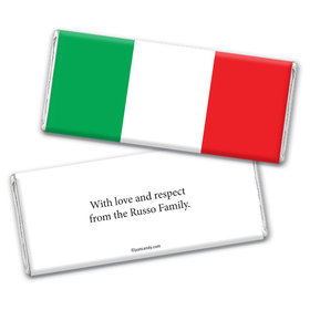 Olympic Party Favor Personalized Chocolate Bar Wrappers Italian Flag from Italy