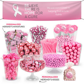 Personalized Breast Cancer Awarenes Be the Hope Deluxe Candy Buffet