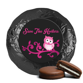 Personalized Breast Cancer Awareness Save the Hooters Chocolate Covered Oreos (24 Pack)
