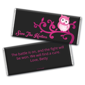 Personalized Breast Cancer Awareness Save the Hooters Chocolate Bar & Wrapper