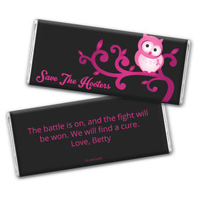 Personalized Breast Cancer Awareness Save the Hooters Chocolate Bar Wrappers Only