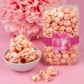 Breast Cancer Awareness Inspiration Candy Coated Popcorn 8 oz Bags