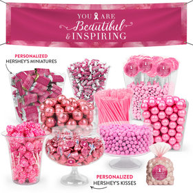 Personalized Breast Cancer Awarenes Pink Inspiration Deluxe Candy Buffet