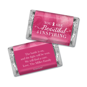 Personalized Breast Cancer Hershey's Miniatures Wrappers Pink Inspiration