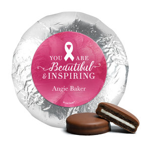 Personalized Breast Cancer Awareness Pink Inspiration Chocolate Covered Oreos