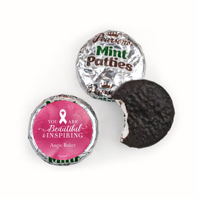 Personalized Breast Cancer Awareness Pink Inspiration Pearson's Mint Patties
