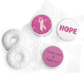 Personalized Breast Cancer Awareness Live Love Hope Life Savers Mints