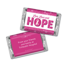 Personalized Breast Cancer Hershey's Miniatures Live Love Hope