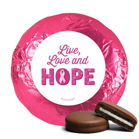 Personalized Breast Cancer Awareness Live Love Hope Chocolate Covered Oreos