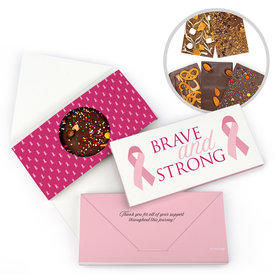 Personalized Breast Cancer Brave and Strong Gourmet Infused Belgian Chocolate Bars (3.5oz)