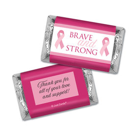 Personalized Breast Cancer Hershey's Miniatures Brave and Strong