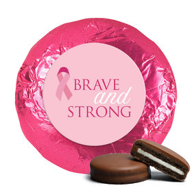 Personalized Breast Cancer Awareness Brave and Strong Chocolate Covered Oreos