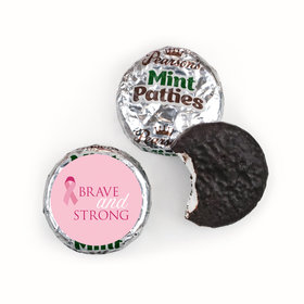 Personalized Breast Cancer Awareness Brave and Strong Pearson's Mint Patties