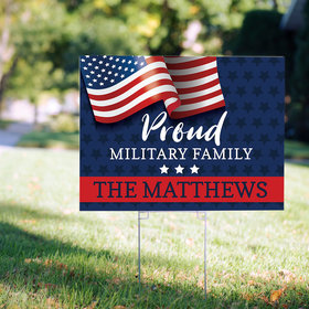 Personalized Proud Military Family Yard Sign