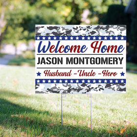 Personalized Welcome Home Airforce Yard Sign
