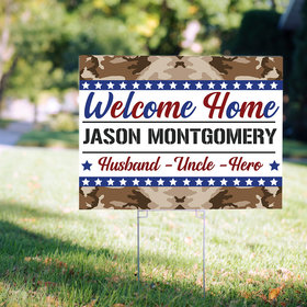 Personalized Welcome Home Army Yard Sign