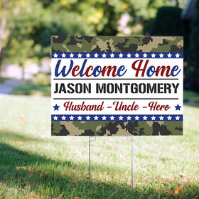 Personalized Welcome Home Marines Yard Sign