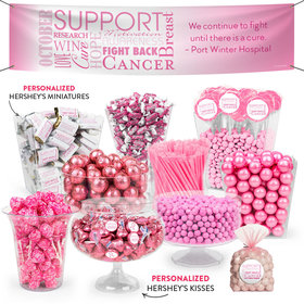 Personalized Breast Cancer Awareness Deluxe Candy Buffet