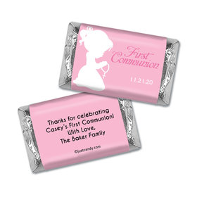 Communion Personalized Hershey's Miniatures Wrappers Child in Prayer